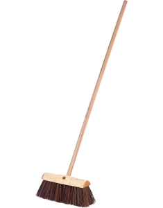 wooden garden broom
