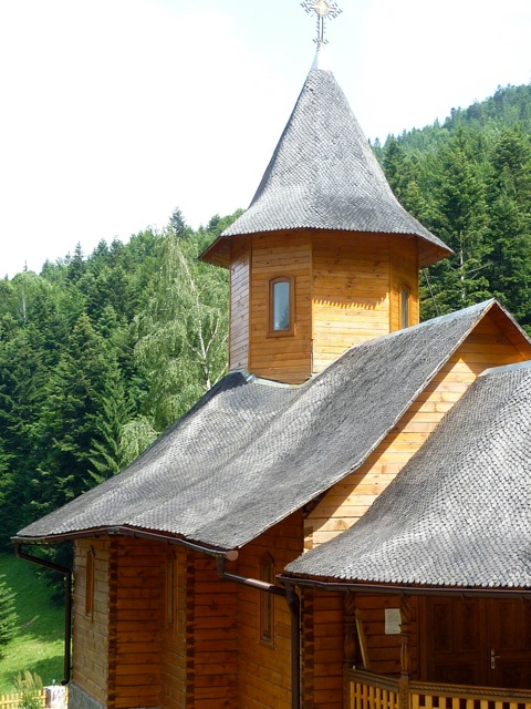The wooden church at the monastery