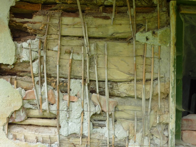 A crumbling wall of the shepherd's hut