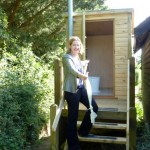 Our MP opeing our new composting loo!