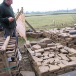 Practising the drystone walling