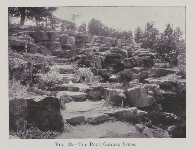 The Rock Garden steps in 1911