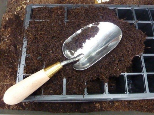 shiny garden trowel by burgon and ball