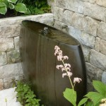 fountain with rounded corners suitable for the blind
