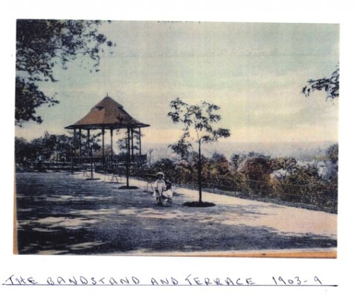 image of the bandstand at Horniman in 1903