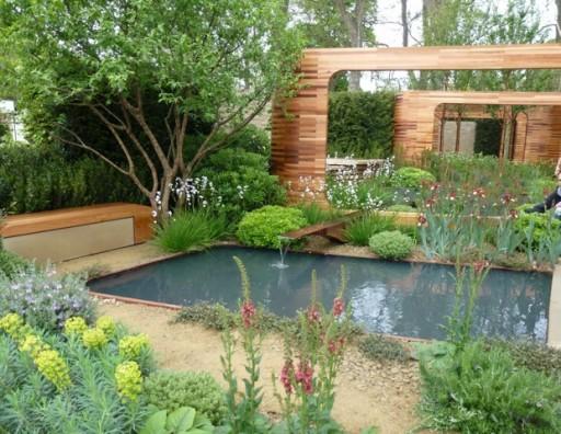 cedar block garden arch