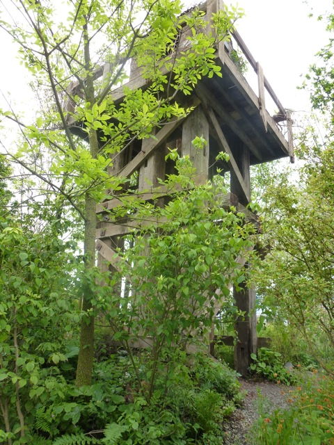 watch tower over Korean Garden