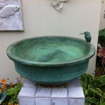 kingfisher and fish bird bath