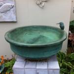 kingfisher and fish bird bath