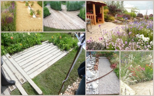 garden designs ideas for paths and decks at tatton