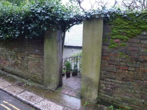open door into garden