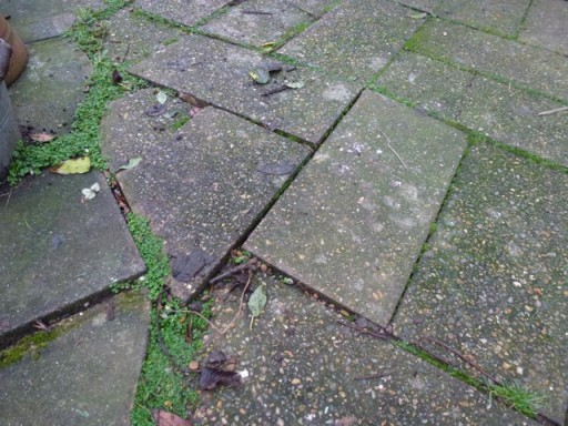 uneven old flagstones