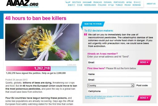 save the bee by banning harmful pesticides