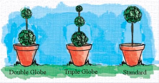 topiary globe painting