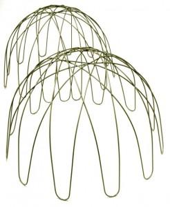 modern plant supports like an upturned hanging basket