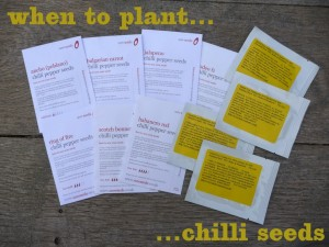 chilli seed packets