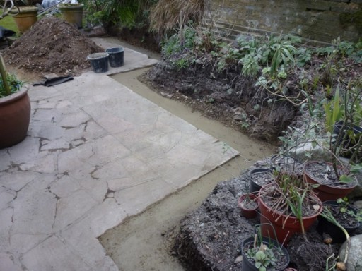 footing in place for garden wall