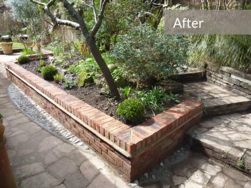 garden wall built