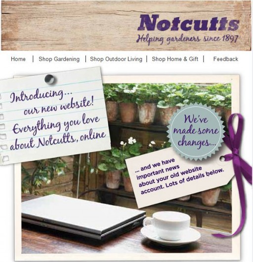 notcutts have a new website