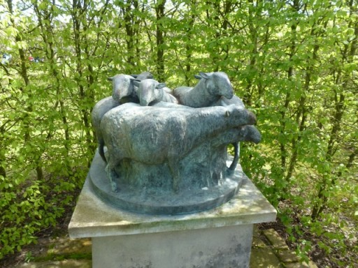 sculpture of garden sheep