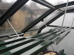 slatted greenhouse shelving