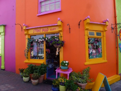 bright orange and yellow flower shop