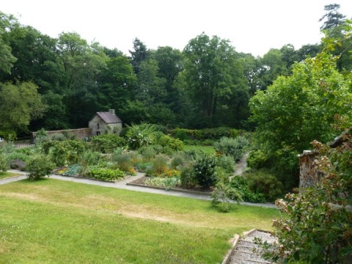 view of garden borders at Ty Glyn