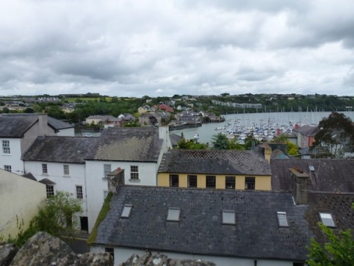 view out to sea over Kinsale