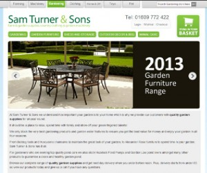 screenshot of sam turner website