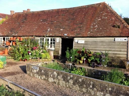 old barn at Great Dixter Nursery