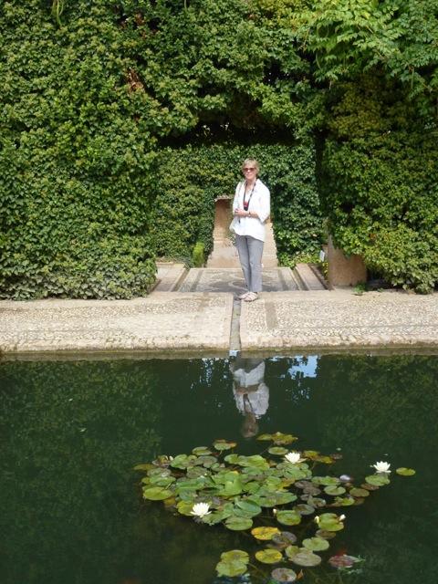 Stephanie at Alhambra Palace Gardens