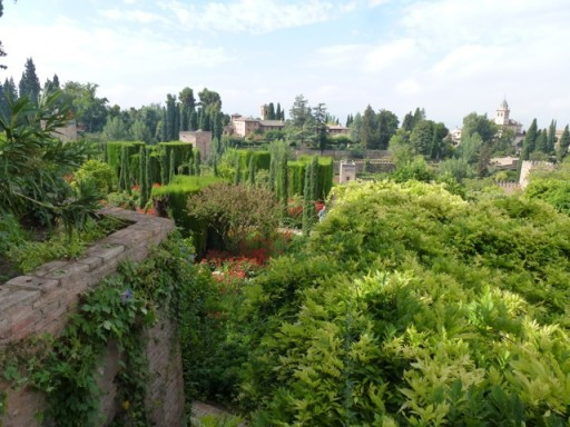 The view of the Alhambra Palace