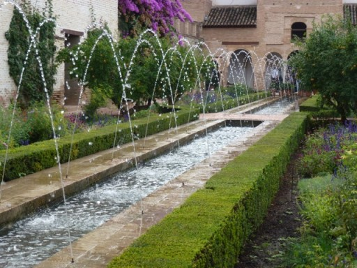 water fetaure in the generalife garden