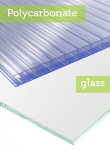 options for greenhiouse glazing include polycarbonate or glass