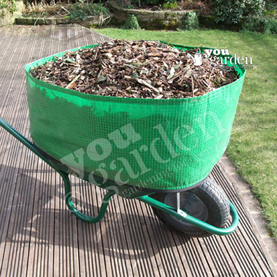 bag that increases the volume your wheelbarrow can hold