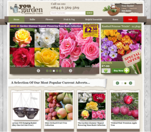 screengrab of yougarden website