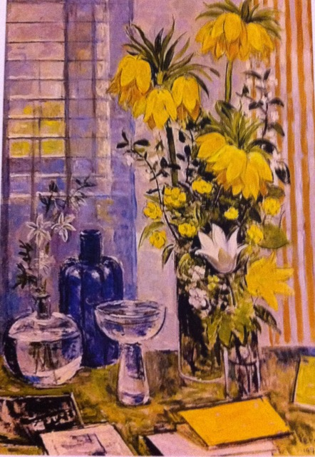 flower painting by Arthur Percy