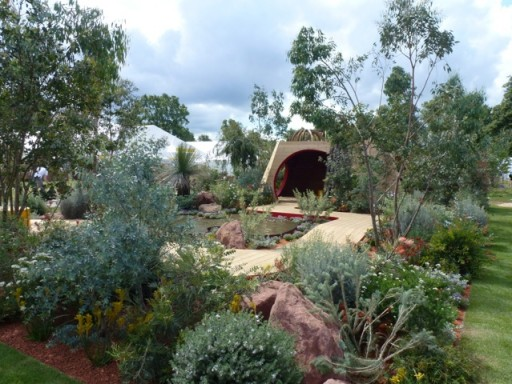 the Australian garden at Hampton Court Flower Show 2014