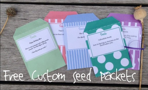 free custom seed packet templates