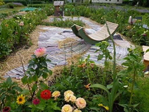 spare plants go into the leftover garden