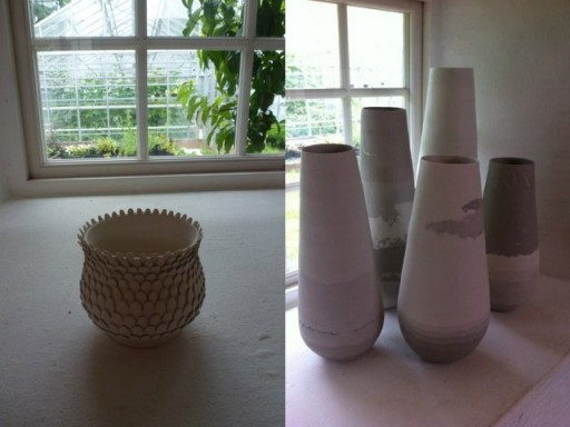 mix of pottery at Capellagarden
