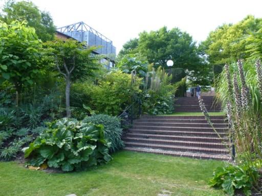 looking up the steps toward Glyndebourne