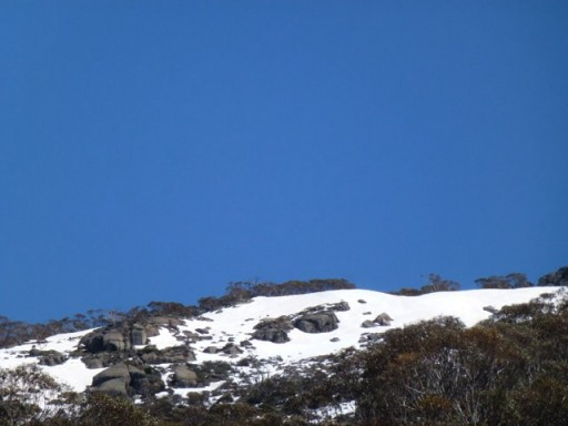 A snow capped mountain in Australia