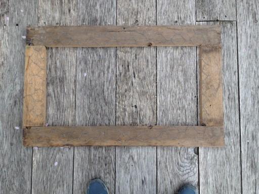 an oak frame for a succulent wall planter