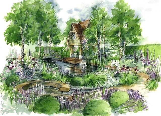 Joe Thompson's garden at chelsea 2015