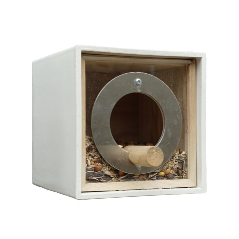 square bird feeder