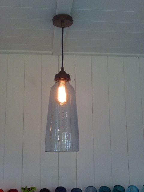 glass lampshade by Michael Ruh
