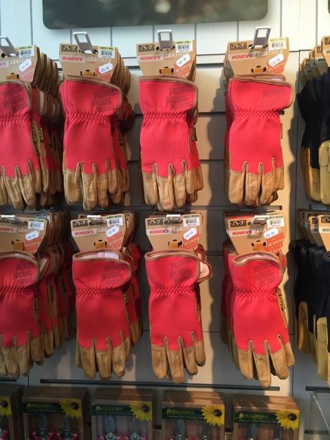 red mechanix gardening gloves