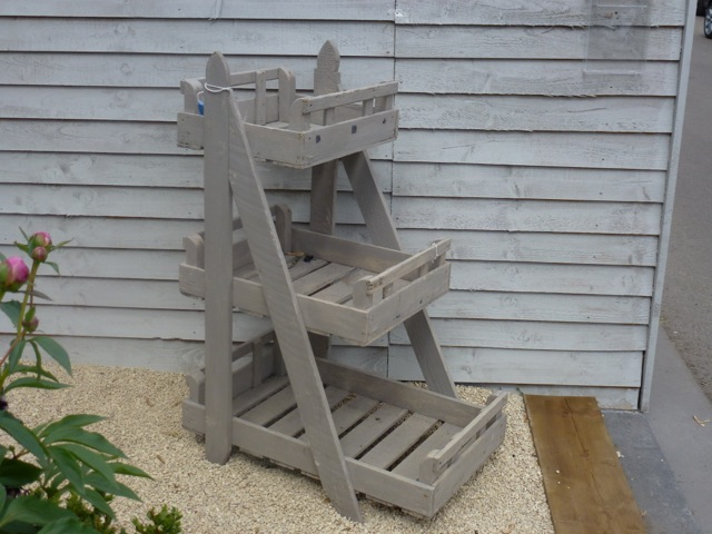 plantstand made from potato crates