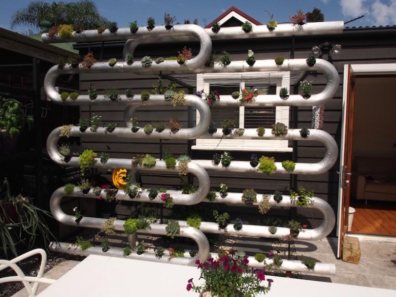 Tubular Steel Planted Garden Screen Designed By Brendan Moar